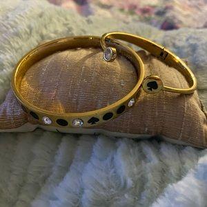 Kate Spade ♠️ gold n black bracelet set like new